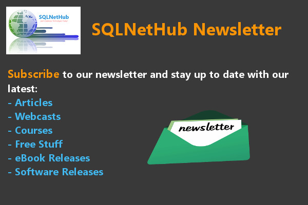 Subscribe to SQLNetHub Newsletter
