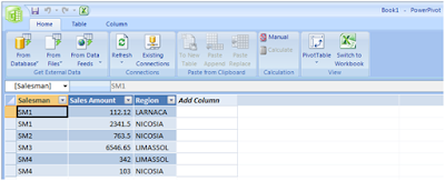 Using PowerPivots Copy-Paste Support for Importing Data from Word - Article on SQLNetHub