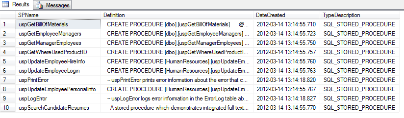 Where are programmability objects stored in SQL Server? - Article on SQLNetHub