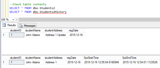 Temporal Tables in SQL Server and Azure SQL Database (Article on SQLNetHub)