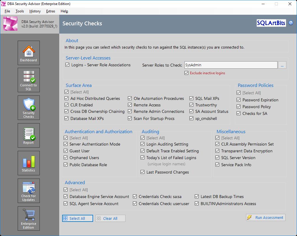 SQLNetHub: DBA Security Advisor for SQL Server