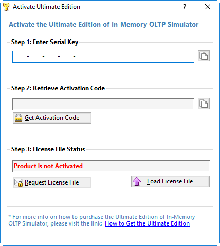 In Memory OLTP Simulator - Activate Ultimate Edition