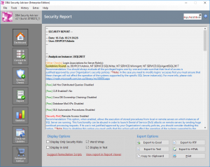 DBA Security Advisor - SQL Server Security and Administration Tool