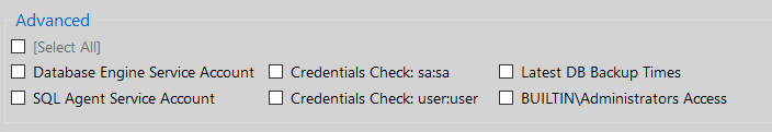 DBA Security Advisor - Security Checks