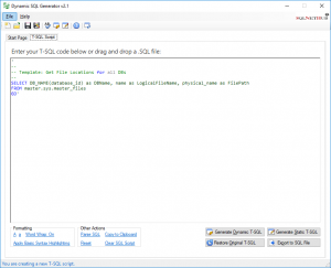 Dynamic SQL Generator - Software Tool on SQLNetHub