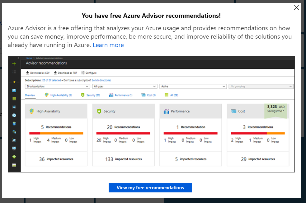 What is Azure Advisor? - Article on SQLNetHub