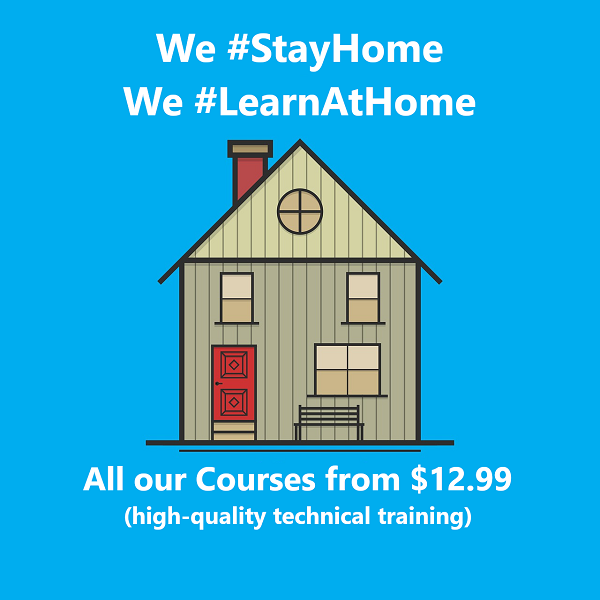 Stay Home - Learn at Home - Special Discount on all our Online Courses - SQLNetHub