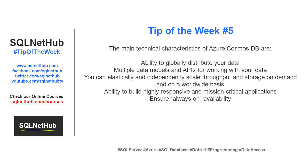 SQLNetHub Tip of the Week 5