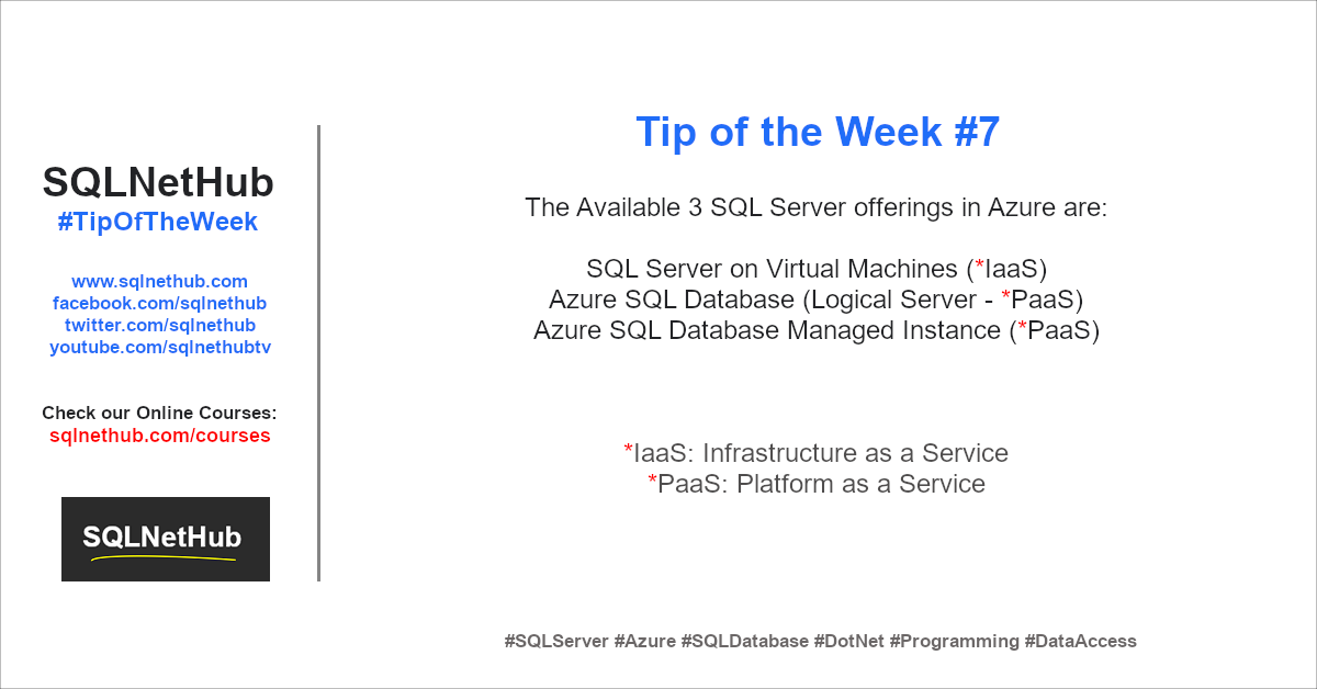 SQLNetHub Tip of the Week 7