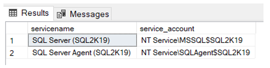 SQLNetHub Tip of the Week No 9 - SQL Server Service Account Info using T-SQL