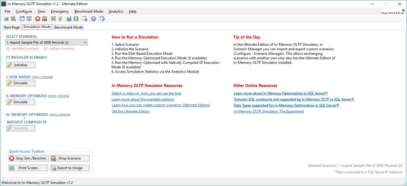 In-Memory OLTP Simulator - SQLNetHub